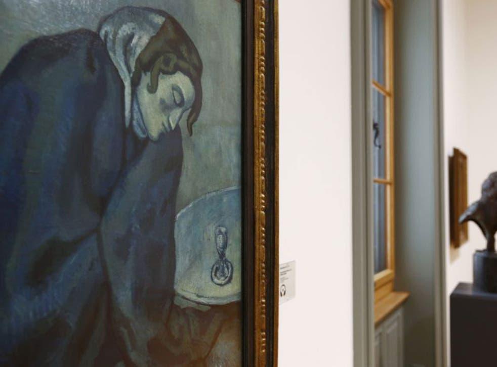 Pablo Picasso's 'Die schlummernde Trinkerin' ('The Dozed Drinker') (Reuters)