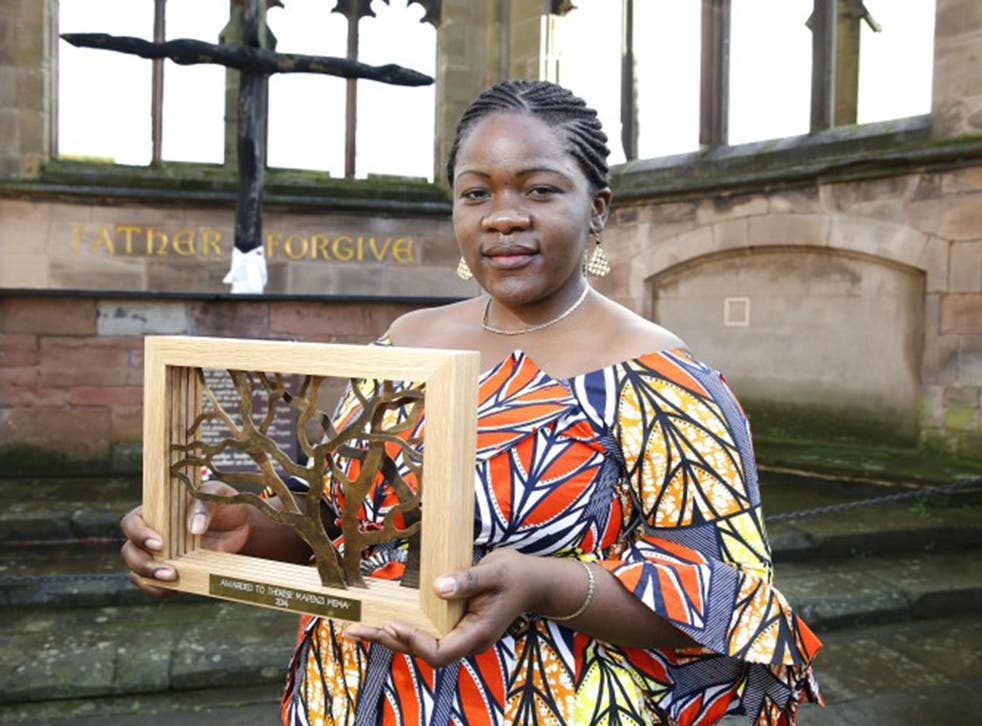 Thérèse Mema Mapenzi has been awarded the Coventry International Prize for Peace and Reconciliation