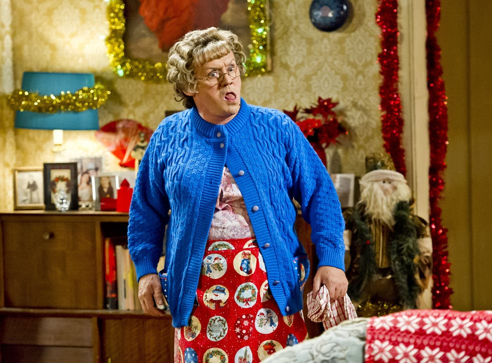 Brendan O'Carroll as Agnes Brown in the 2014 Mrs Brown's Boys Christmas special
