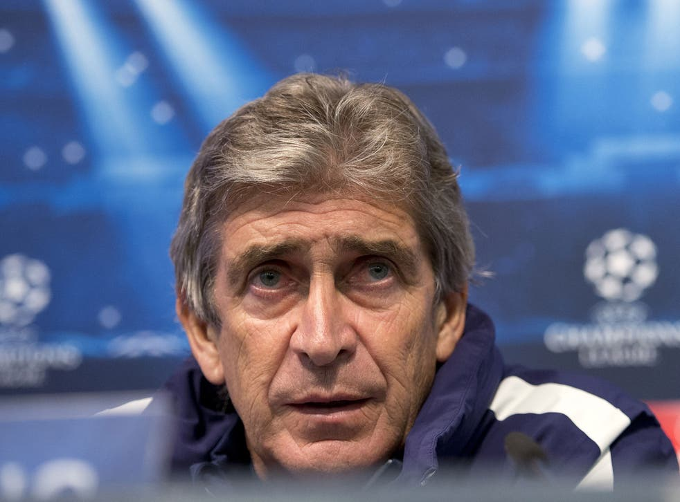 Manchester City's Chilean manager Manuel Pellegrini addresses a press conference at the Etihad Stadium following a team training session in Manchester, north west England, on November 24, 2014.
