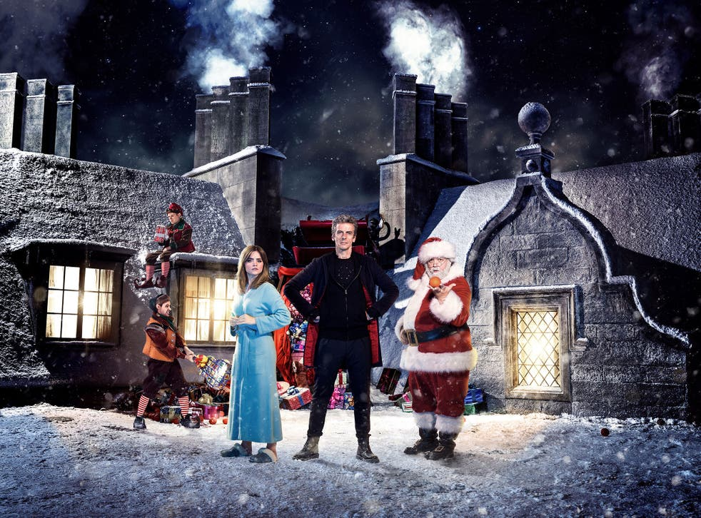 Jenna Coleman, Peter Capaldi and Nick Frost star in the Doctor Who Christmas Special, Last Christmas