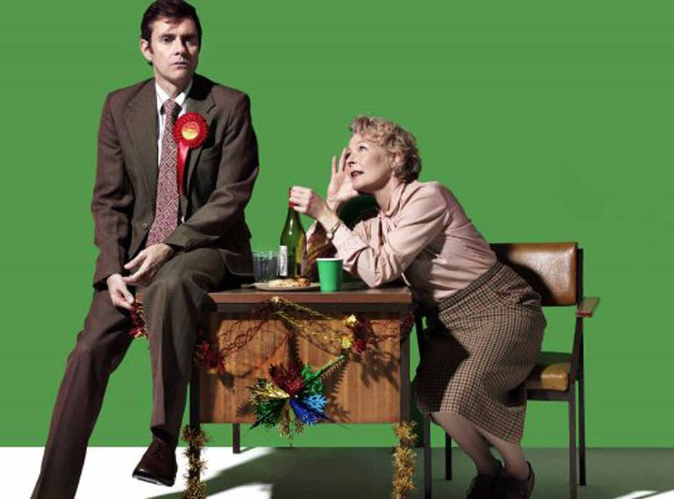 The party's over: Paul Higgins and Stella Gonet in 'Hope' at the Royal Court