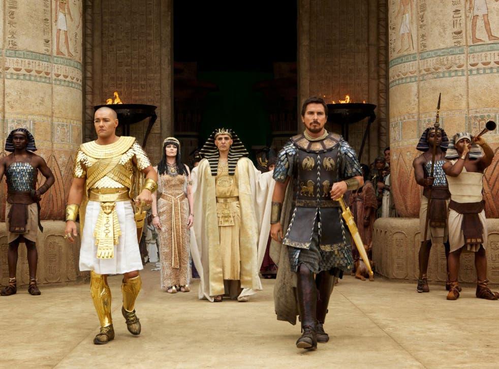 Joel Edgerton, John Turturro and Christian Bale in Exodus: Gods and Kings