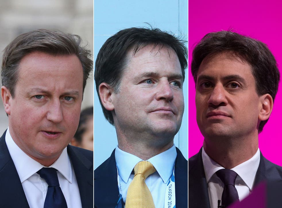 David Cameron, Nick Clegg and Ed Miliband put aside their political differences to pledge their support for the campaign