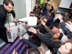 Shops hit by chaos and violence on Black Friday