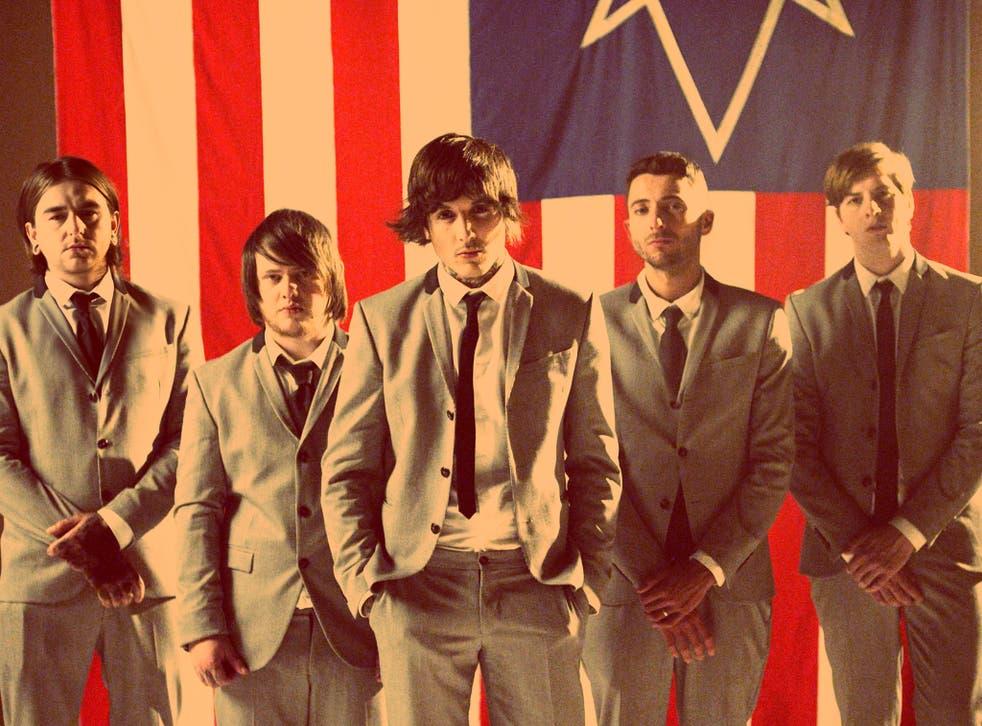 Dead smart: (from left) Matt Nicholls, Lee Malia, Oli Sykes, Jordan Fish, and Matt Kean of Bring Me the Horizon