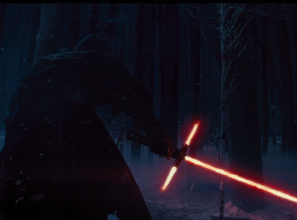 The new light saber in Star Wars: The Force Awakens