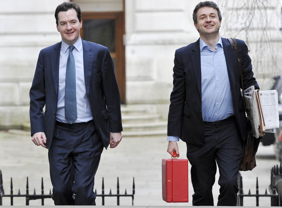 Rupert Harrison, right, has worked for the Chancellor, George Osborne, since 2006