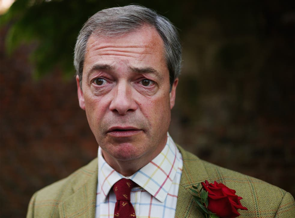 Mr Farage did not take part in the debate yesterday