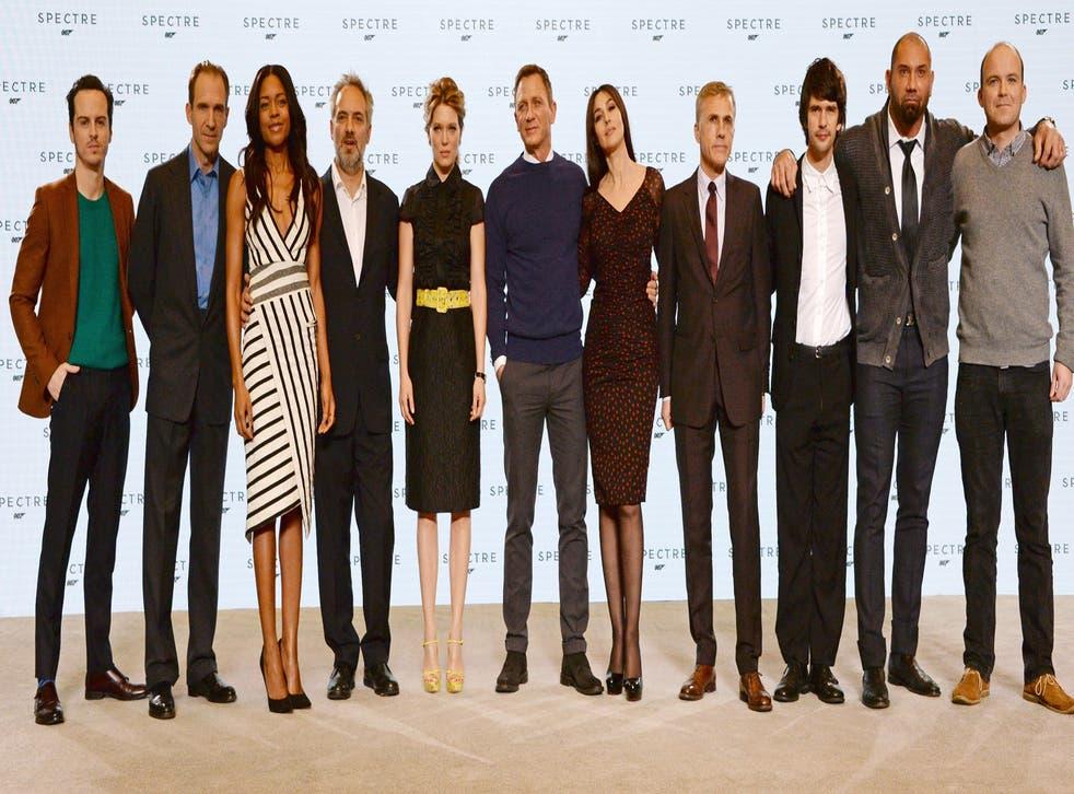 The cast of new James Bond film Spectre