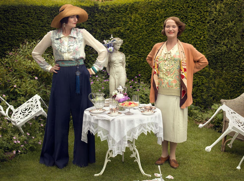 Anna Chancellor as Lucia and Miranda Richardson as Mapp, in the BBC's new adaptation (C) BBC - Photographer: Nick Briggs)