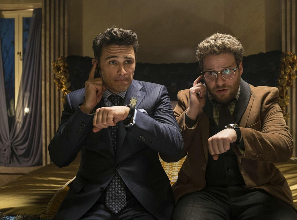 A still from The Interview, starring Seth Rogen and James Franco