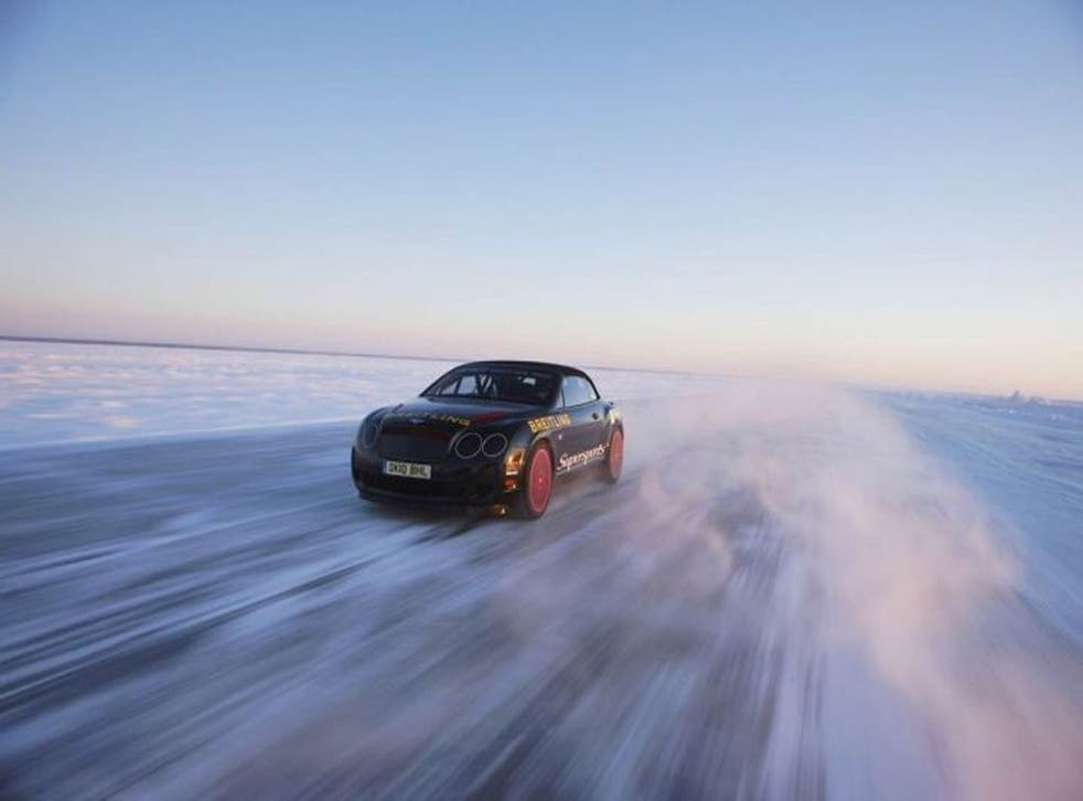 You could earn the chance to drive a Continental GT3-R on ice