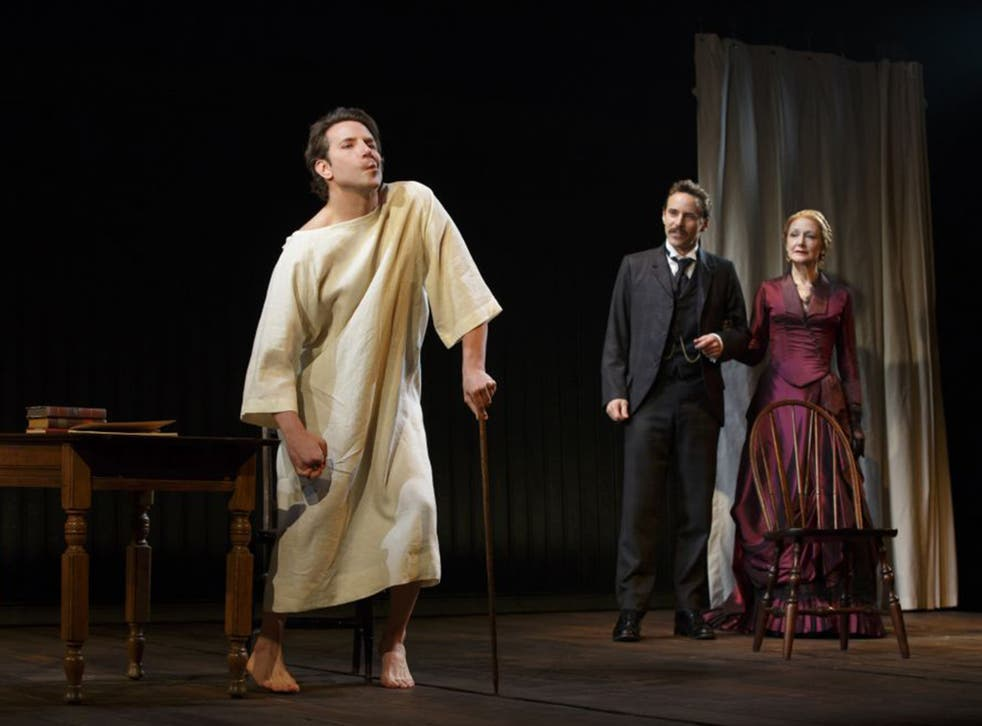 Bradley Cooper, Alessandro Nivola and Patricia Clarkson on stage