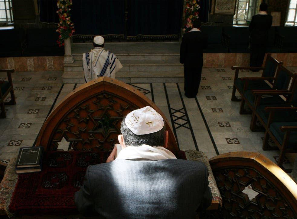 Syrian Jews celebrating Passover in Damascus