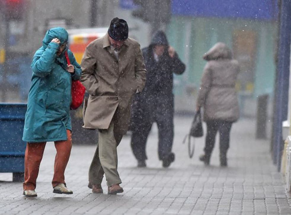 Shock and pour: UK residents caught unaware by a recent storm