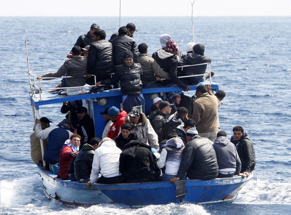 A boat of would-be immigrants near the Italian island of Lampedusa. Most of those crossing the Mediterranean headed to Italy