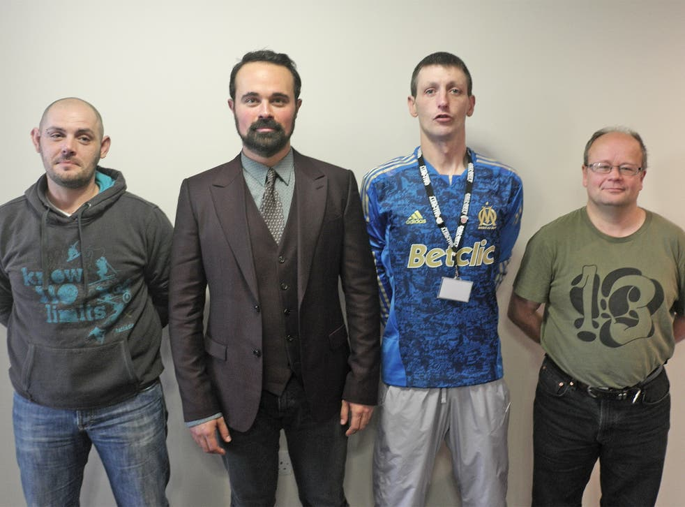 From left: Russ Kyle, Evgeny Lebedev, Stephen Templeton and Alex Rhymer at Belrock House