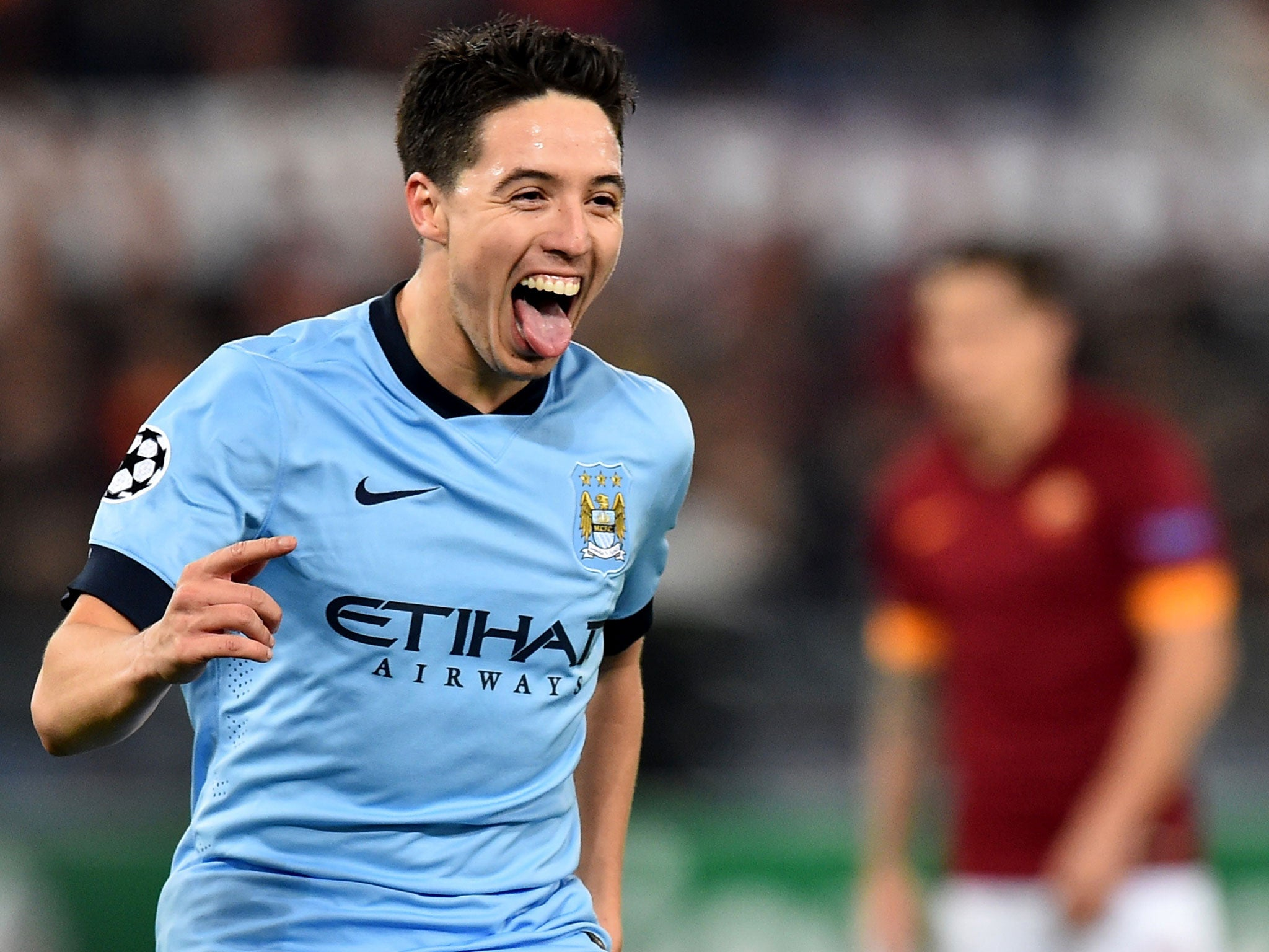 Roma vs Manchester City Samir Nasri takes delight in Rome