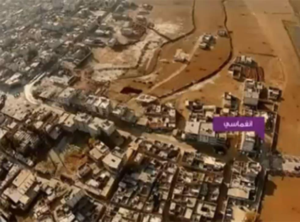 Isis release drone footage of suicide bombings in Kobani.