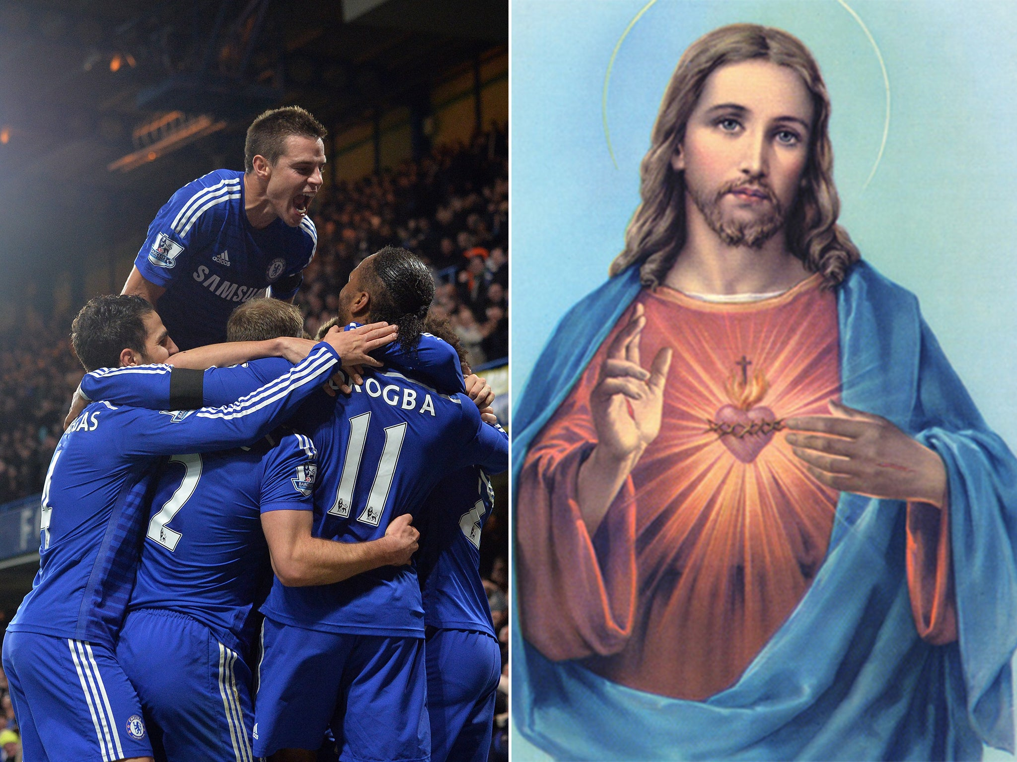 jesus christ plays for chelsea that u0027s what one in five children