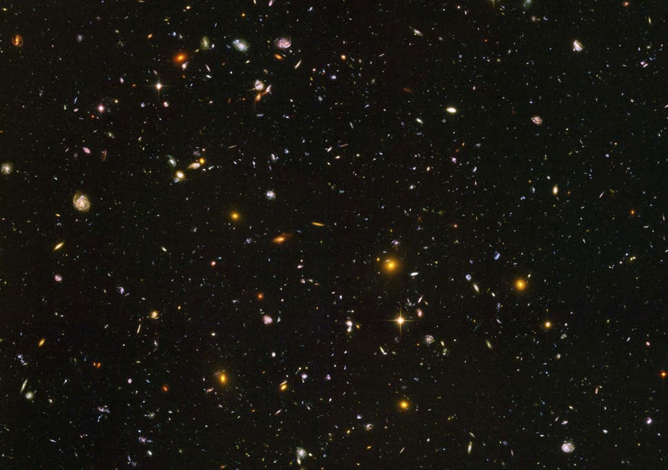 8ed2ad42 A photo from one of Hubble's deepest looks into the visible universe,  showing some of