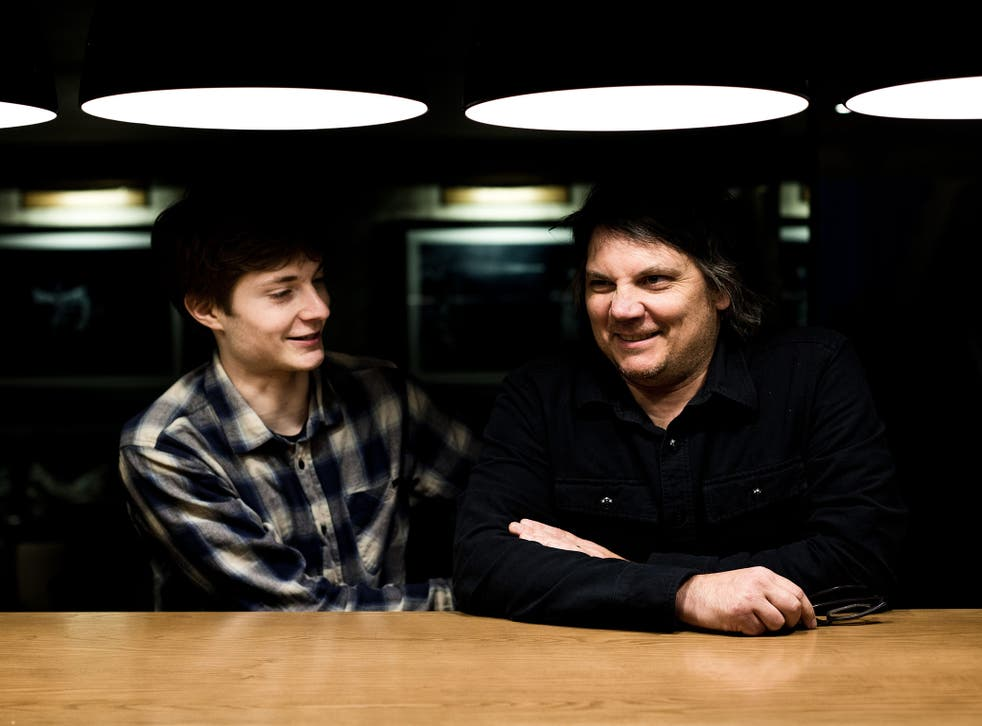 The offspring: Jeff Tweedy with son Spencer