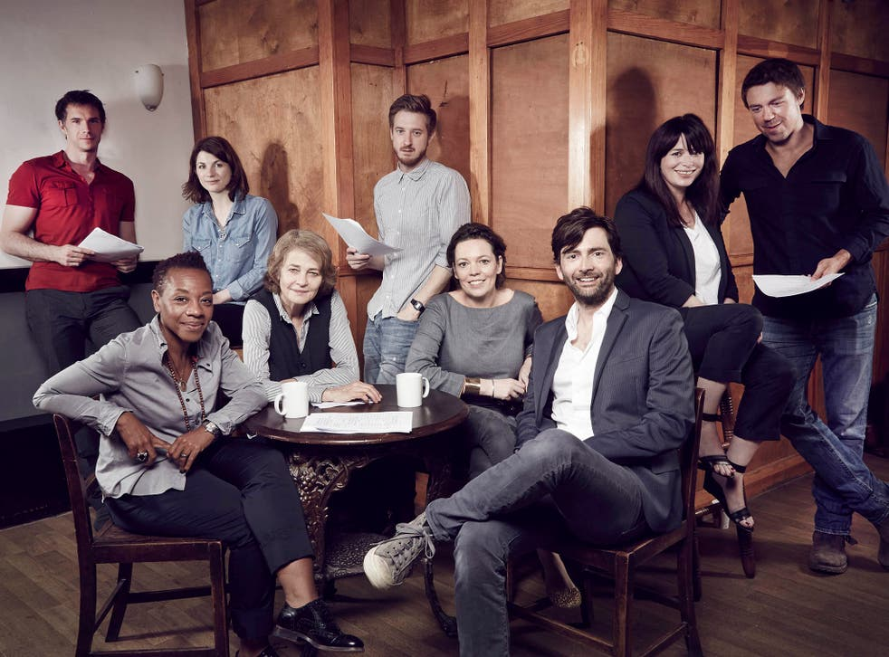 The cast of multi award winning drama Broadchurch attended the read-through for the second series of the drama in London.