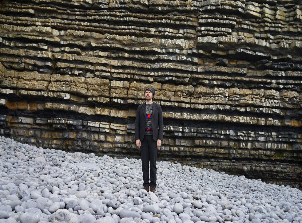 Rhys photographed last month on Southerndown Beach, near Bridgend in South Wales
