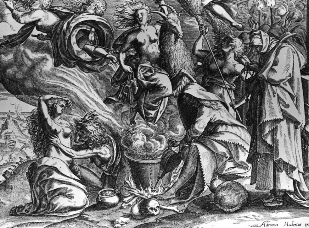 Foul practices: Witches depicted by Adrianus Hubertus c1650