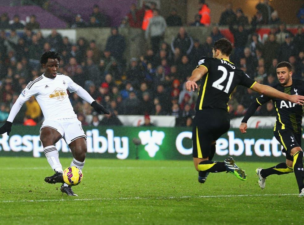 Wilfried Bony hits Swansea's equaliser