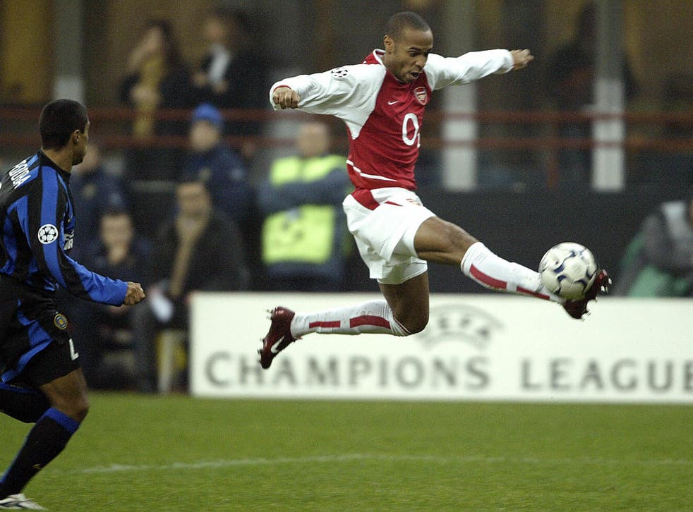 Henry scored twice in the famous 5-1 victory over Inter Milan