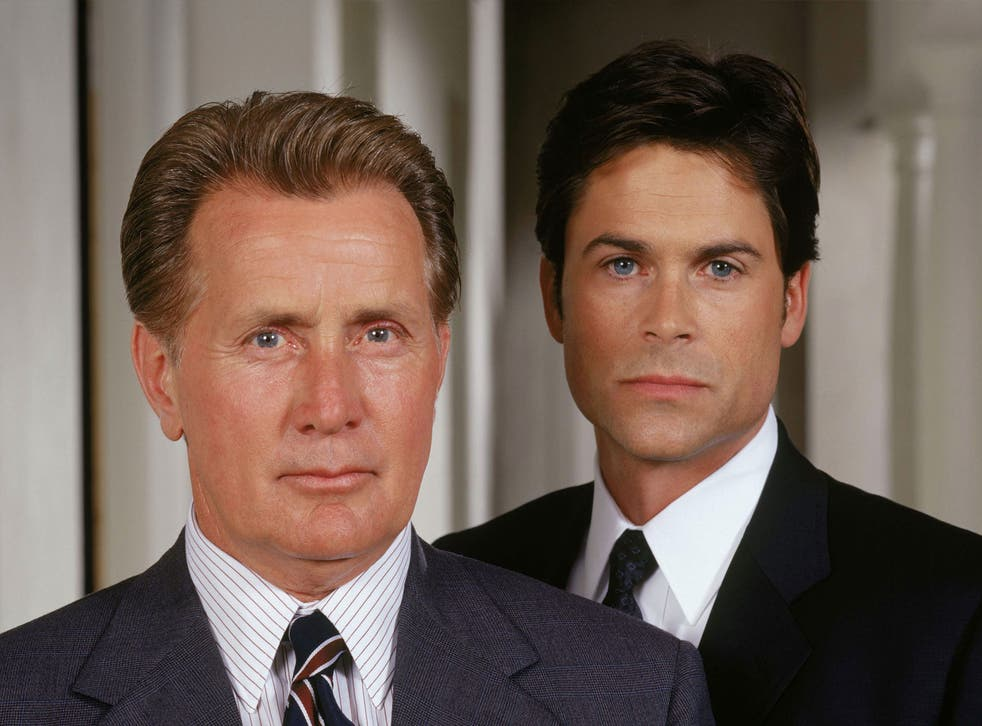 Jed Bartlet (Martin Sheen) and Sam Seaborne (Rob Lowe) in The West Wing