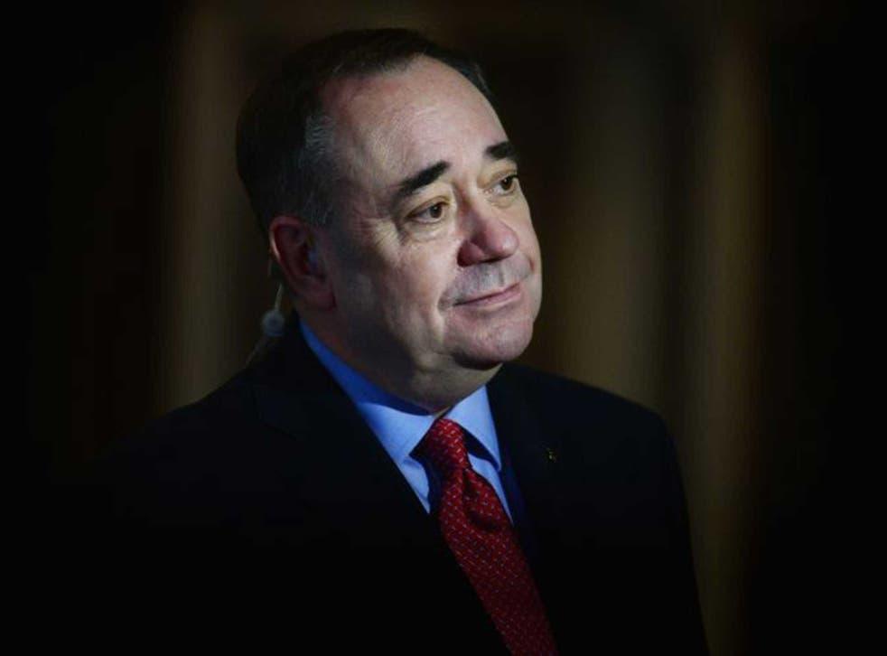 Scotland's former First Minister Alex Salmond