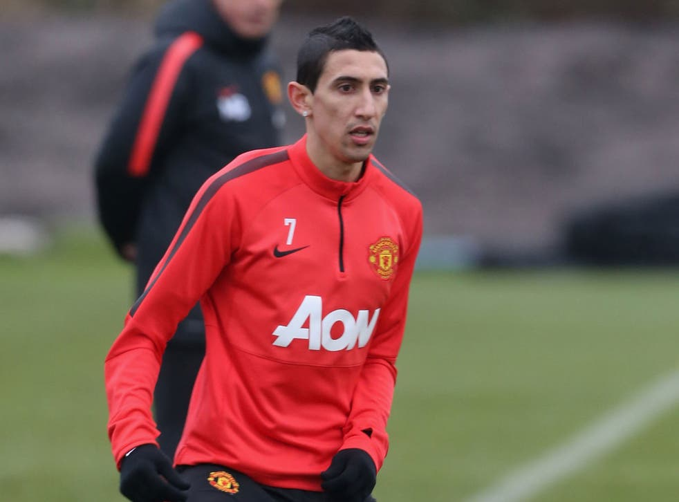 Angel Di Maria is back in training with Manchester United