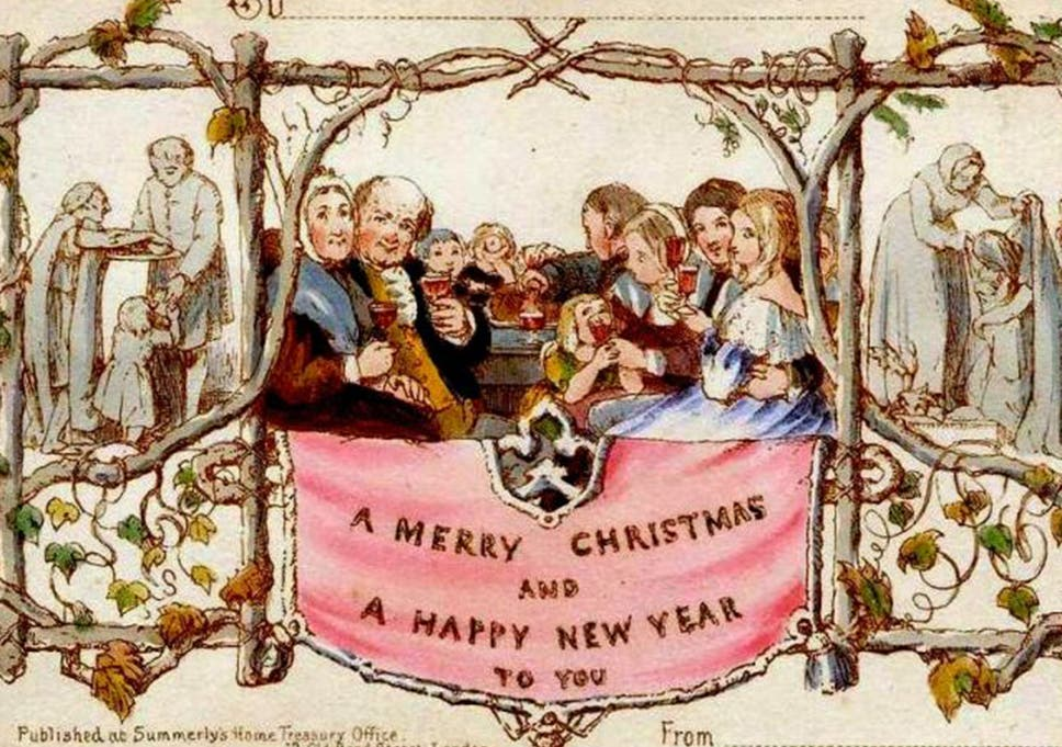 Christmas Card Artist.Hold Your Temperance New Life For The First Christmas Card
