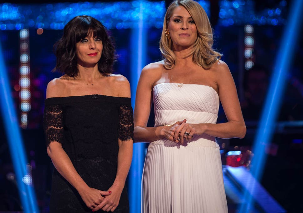 24da8480d0f8 Claudia Winkleman and co-host Tess Daly at the Strictly Come Dancing final