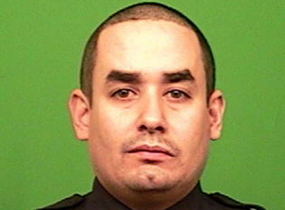 Rafael Ramos, 40, and his NYPD officer colleague were shot dead by a gunman