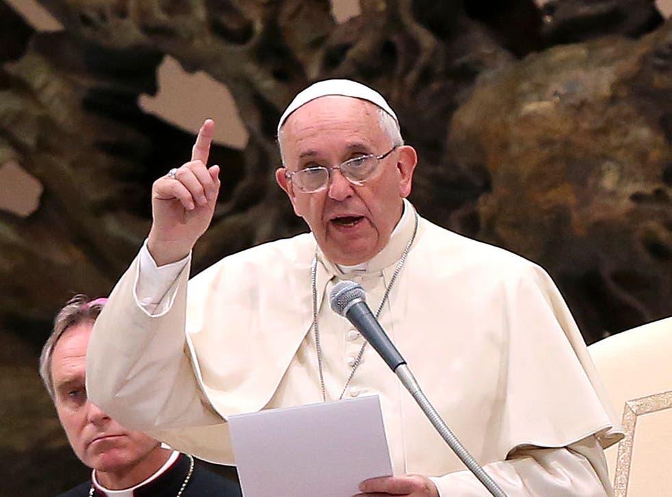 Pope Francis addressing the Association of Italian Catholic Doctors on Saturday 15 November 2014