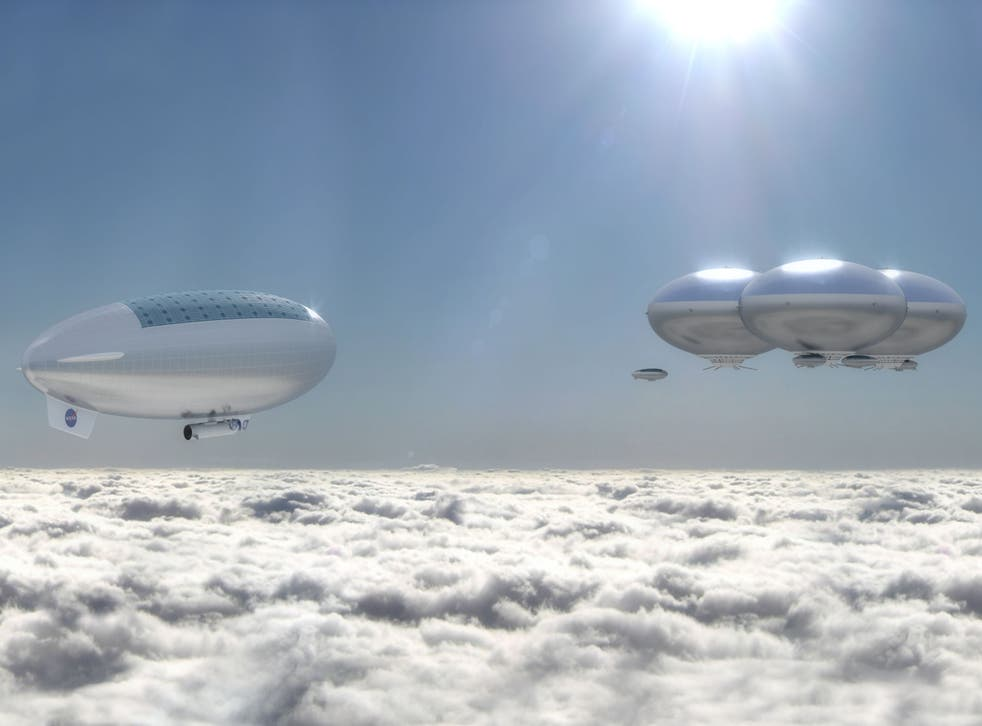 The 'cloud city' as imagined by an artist