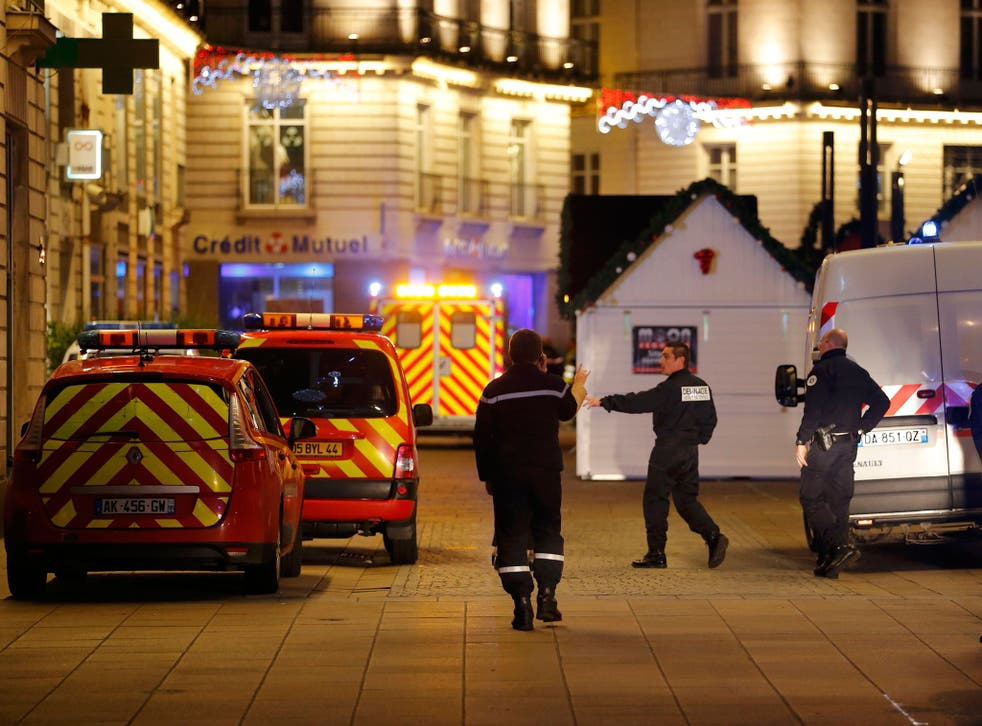 Eleven people were hurt, five seriously, when a van drove into a Christmas market in Nantes