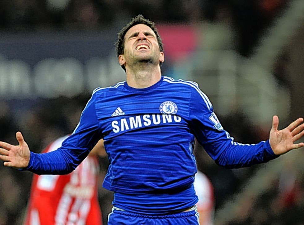 Cesc Fabregas celebrates wrapping up victory with Chelsea's second goal