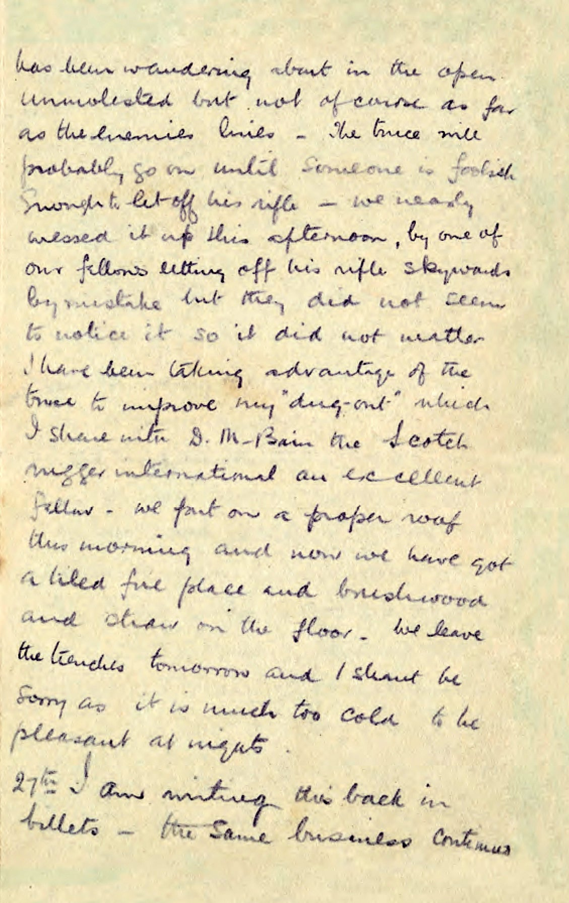 Christmas Day Truce 1914 Letter From Trenches Shows Football Match