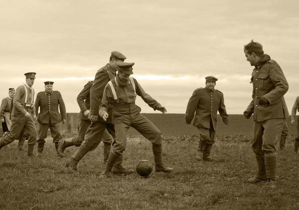 a re enactment of the 1914 christmas truce in ploegsteert belgium - Football Christmas Eve