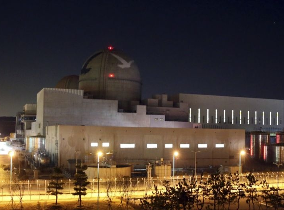 Nuclear power plant, Shin Kori 3, under construction in Ulsan, South Korea.
