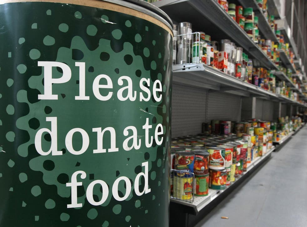 492, 600 people were given three days worth of food by the Trussell Trust food banks between April and September this year (Getty)
