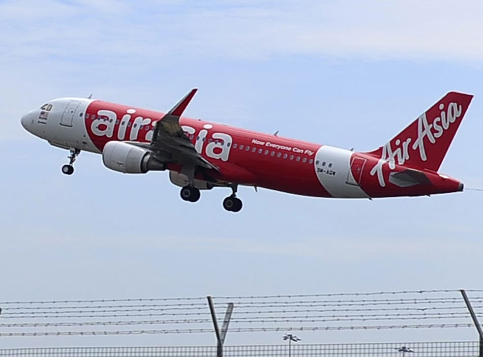 File: An AirAsia flight from Indonesia to Singapore has gone missing with a British national on board