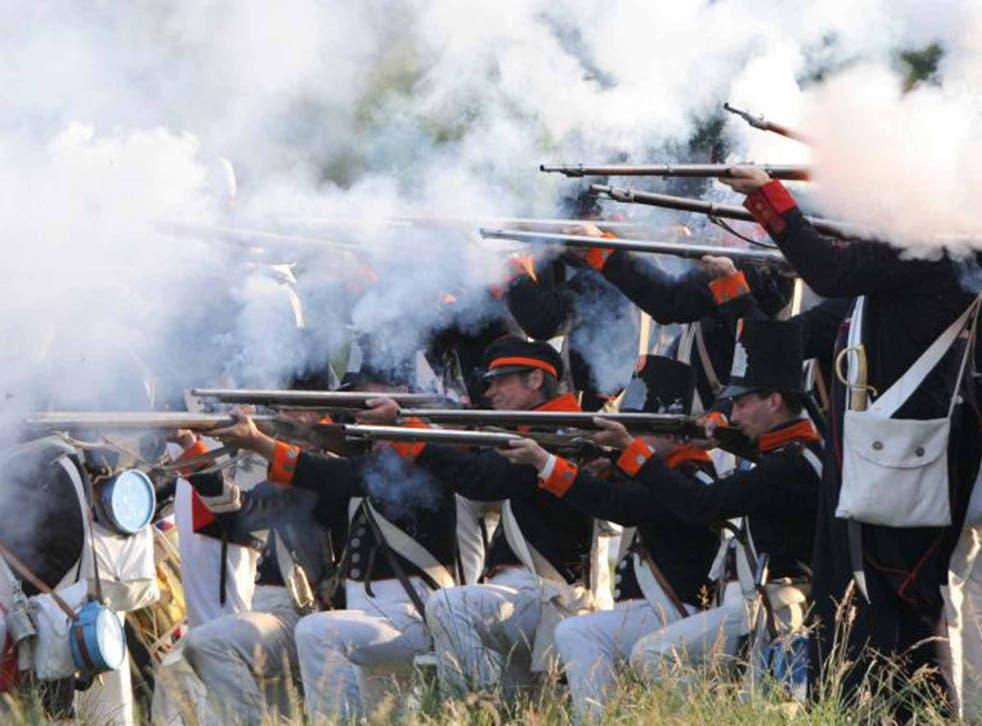 The Battle of Waterloo re-enacted (AFP)