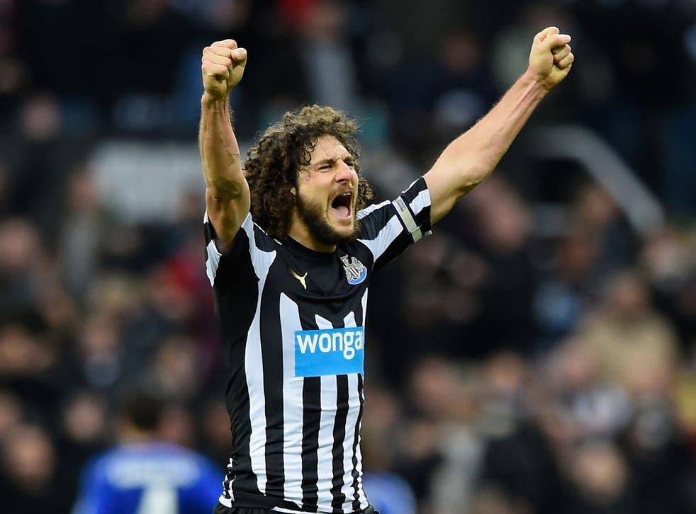 Pardew thanked his Newcastle captain Fabricio Coloccini