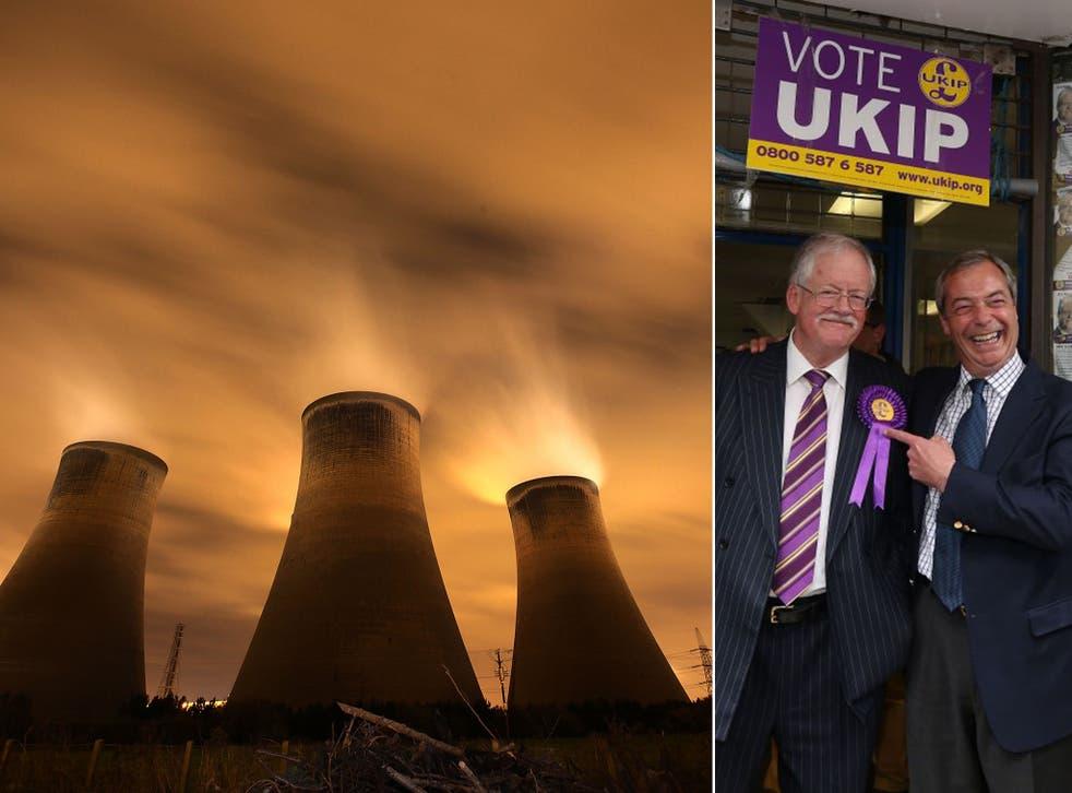 Roger Helmer (left, with Ukip party leader Nigel Farage) has dismissed 'climate alarmism'